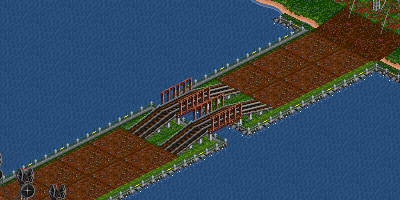 landbridges with route for ships