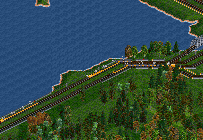A train track at the coastline